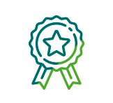 medalla con estrella