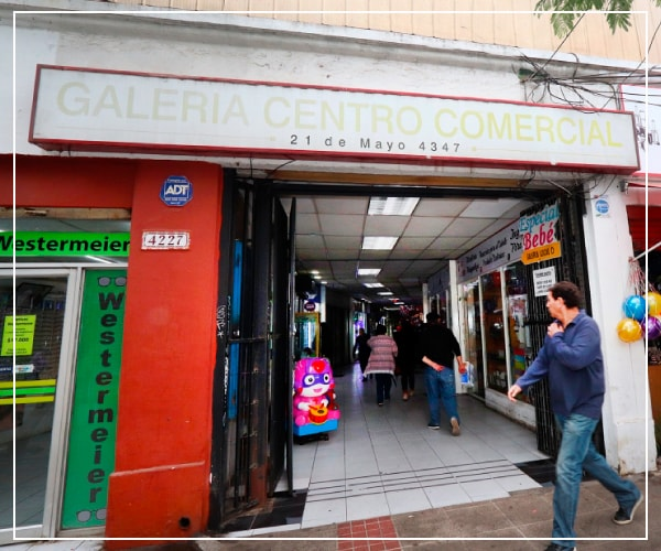 entrada a galería centro comercial anic